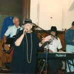 Madam Pat Thompson at the Willows with Dave Bates, Bob Porter, Tony Fullerton , Joe Stockman