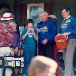 Raffle draw at the MJF picnic Yellowpinch 1992