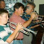 Jan 1995 - DSJQ with Tony, Geoff and a young Robert Moffatt