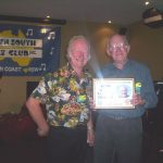 John Martin presented with Life Membership of the Down South Jazz Club