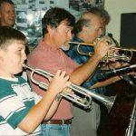 Jan 1995 - DSJQ with Tony, Geoff and a young Robert Moffatt